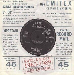 Richard ,Cliff - Rare B-Sides 1963-1989