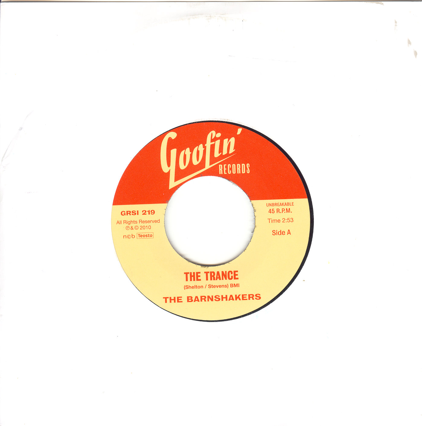 Barnshakers ,The - The Trance / Let Me Tell... (45's)