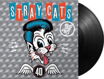 Stray Cats ,The - 40 ( Ltd Black Vinyl , Gatefold Sleeve )